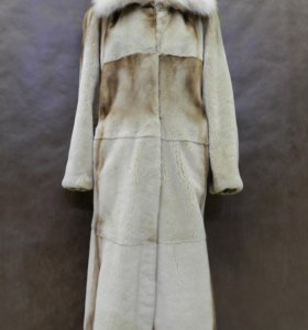 Норковая шуба с воротником из рыси 50 52