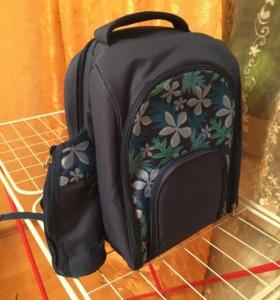 Походный термо- рюкзак, набор для пикника(новый)