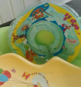 Ванночка, круг для купания, горка