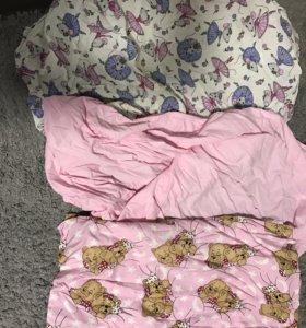 Простынь в детскую кровать