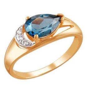 Кольцо золотое Эстет с Топазом размер 19,0