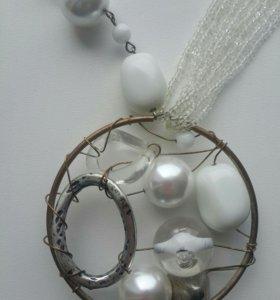 Стильный наборчик: колье и кольцо