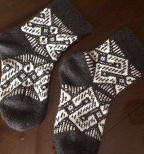 Носки вязаные тёплые