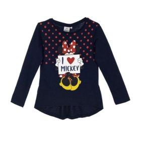 Лонгслив для девочек Minnie I love Mickey
