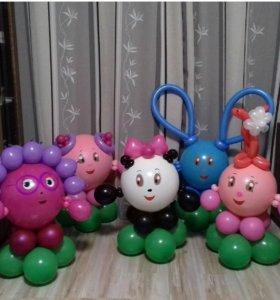Воздушные шары. Малышарики - смешарики