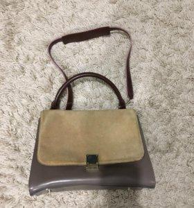 Женская сумка(натуральная замша,кожа)
