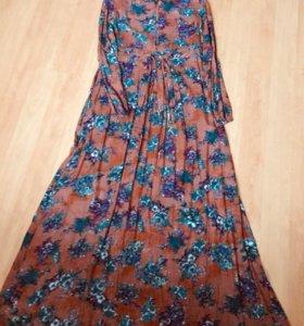 Платье в пол штапель