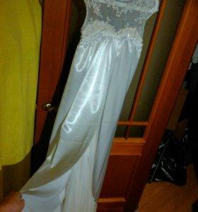 Свадебное платье 44-46 (туфли,фата,клатч,перчатки)