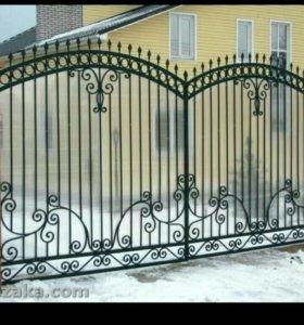 Заборы, ограды, металлоконструкции.