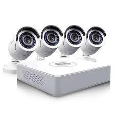 Видеонаблюдение комплект (4 видеокамеры FullHD)