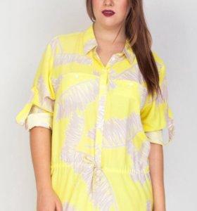 Женская легкая блузка-туника