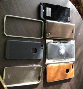 Чехол аккумулятор + 6 чехлов для iPhone 6, 6s.