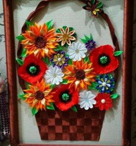 """Картина """"Корзина с цветами"""""""