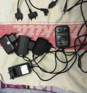 Зарядки к старым сотовым телефонам