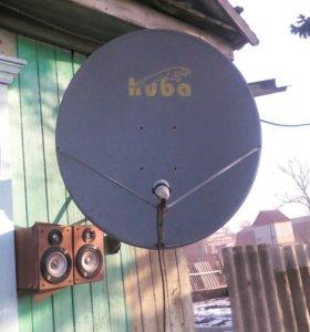 Спутниковая антенна с тюнером.