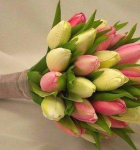 Букеты из тюльпанов к 8 марта