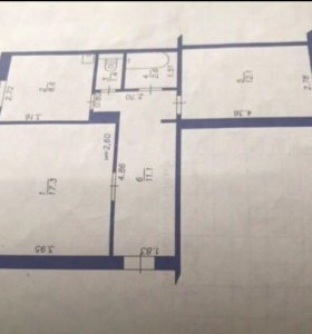 Квартира, 2 комнаты, 53.1 м²