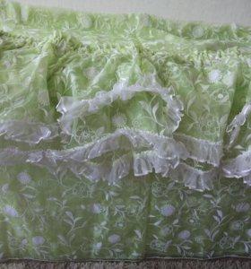 Ткань для тюли и двойной ламбрекен