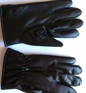 Сенсорные перчатки кожзам