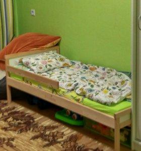 Детская кровать сниглар (икея)