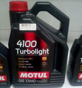 Motul 4100 Turbolight A3/B4 10W40 п/с 4л