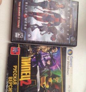 Продажа двух игровых дисков на пк
