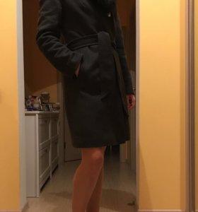 Пальто зимнее шерсть с мехом (песец)