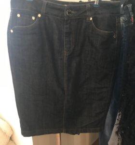 Юбка-карандаш джинсовая
