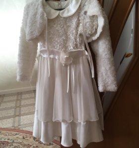 Платье для девочки.б/у.Для девочки 4-6 лет