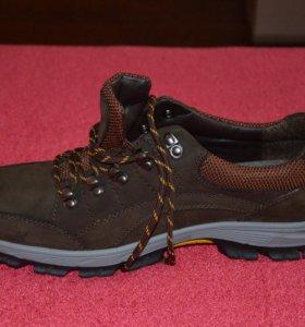 новые мужские кроссовки Натуральная кожа 43 р-44р