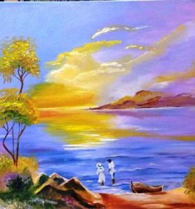 Картина маслом «Морской блюз», 60×60