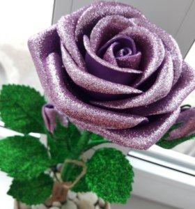 Интерьерные цветы из фоамирана