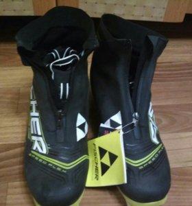 Ботинки лыжные новые фишер