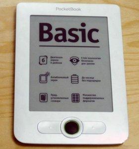 Электронная книга Pocketbook 613 с кожаным чехлом