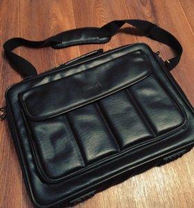 Кожаная сумка для ноутбука отл.состояние