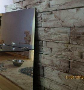 Зеркало с полочкой (новое) для ванной комнаты