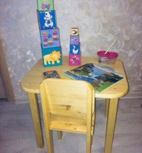 Ручная работа стол, стул.детская мебель