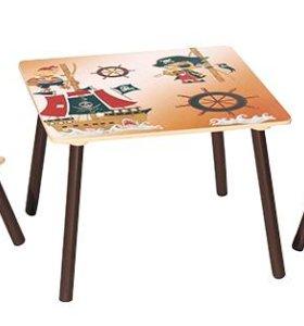 Набор детской мебели стол и 2 стульчика Пираты