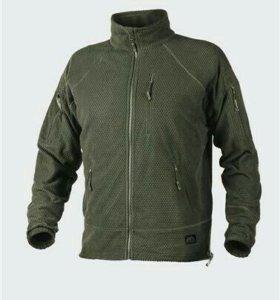 Alpha tactical grid fleece jacket