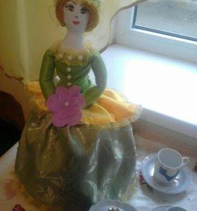 Кукла-весна текстильная