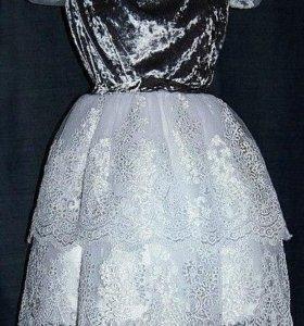 Дизайнерское платье №4 с кружевом