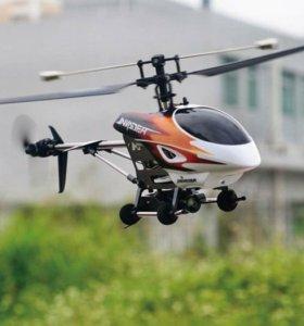Большой вертолёт с видеокамерой