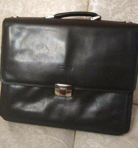 Сумка мужская портфель kenzo оригинал кожа