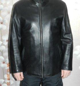 Куртка кожаная на меховой подстежке