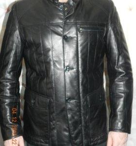 Куртка мужская кожаная на синтепоне