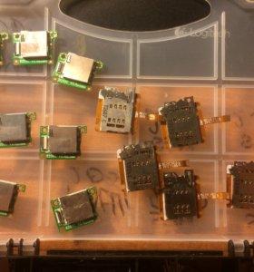 Разъемы SIM/microSD/GSM Prestigio PMP7100