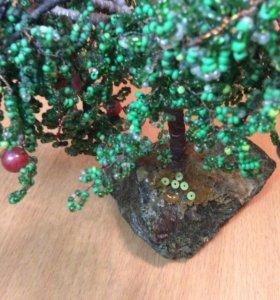 Яблоня дерево из бисера хэндмейд