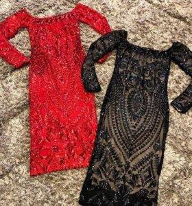 Красный, размер S . Новое платье