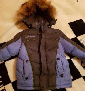 Зимний пуховик на 3 годика