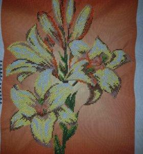 """вышивка бисером """"тигровые лилии"""""""